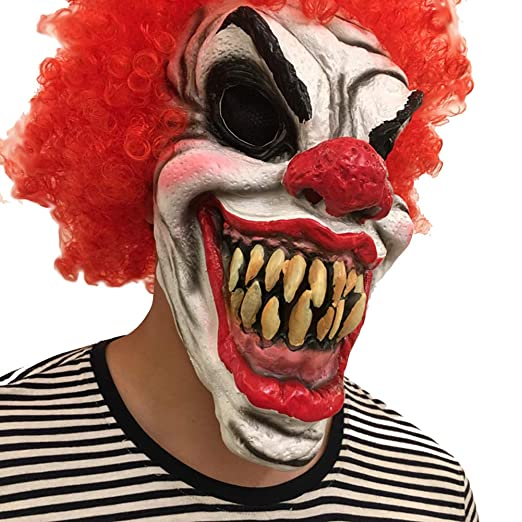 CHESUN Máscara Payaso Scary Halloween Costume Horror Mask ...