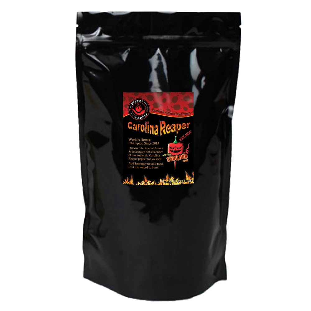 Carolina Reaper Pepper Flakes | Extremely Hot Crushed Carolina Reaper Peppers (16oz / 1lb)