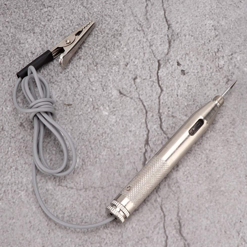 Testeur de circuit de tension outil de maintenance de stylo de test de sonde de d/étecteur de testeur de circuit de tension de voiture universel 6V-24V universel