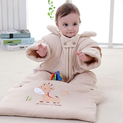 Saco de Dormir para bebés, otoño e Invierno edredón de algodón para bebés edredón recién