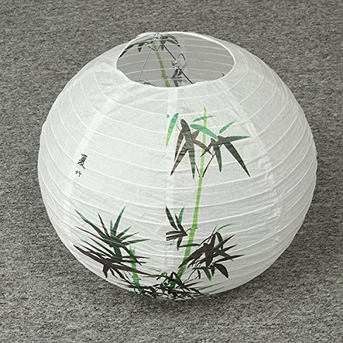 35CM Chinese Bamboo Round Paper Lantern Lamp Shade Oriental Home Decoration