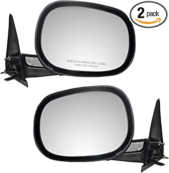 Amazon Com Driver And Passenger Power Side View Mirrors Replacement For Dodge Suv Pickup Truck 55154845af 55154844ad Autoandart Automotive