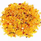 yujianni 1 Pounds Crystal Tumbled Polished Natural Agate Gravel Stones for Plants and Crafts - Small Size - 7mm to 9mm Avg (yellow)