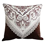 More colors European-style pillow Chenille back cushions pillowcase for sofa and bed -G 60x60cm(24x24inch)VersionB