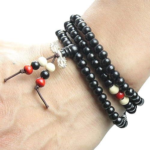 4eae17e7dc0ad Amazon.com  eYourlife2012 Tibetan 108pcs Rosewood Payer Beads Buddha Mala Buddhist  Bracelet Necklace Vajra  Jewelry