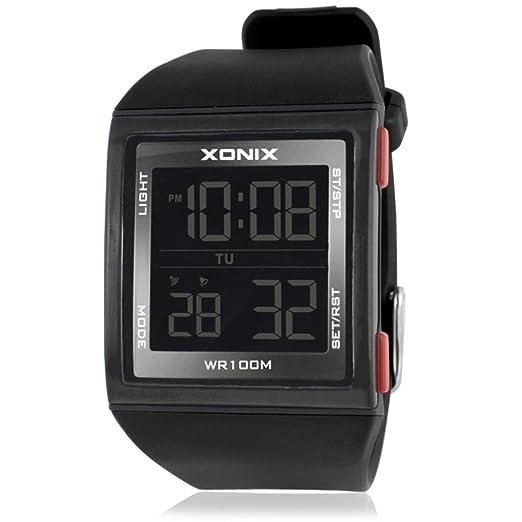 Reloj de Hombre con números Grandes, multifunción, LED, Resistente al Agua, Movimiento al Aire Libre, electrónico, Reloj D: Amazon.es: Relojes