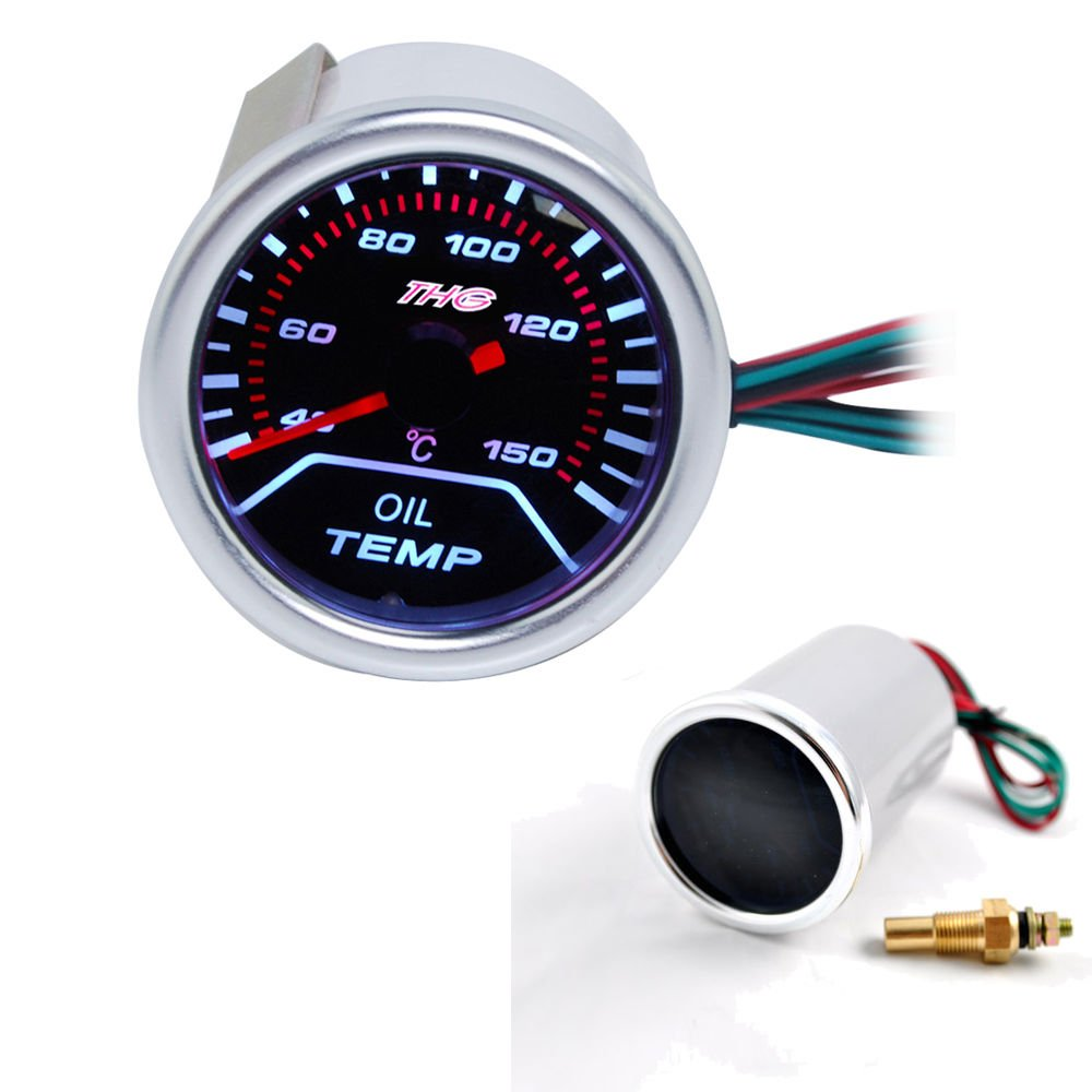 Excellent Oil Temp Gauge DC12V Auto Gauges 52MM by EXCELLENT SHOPPING