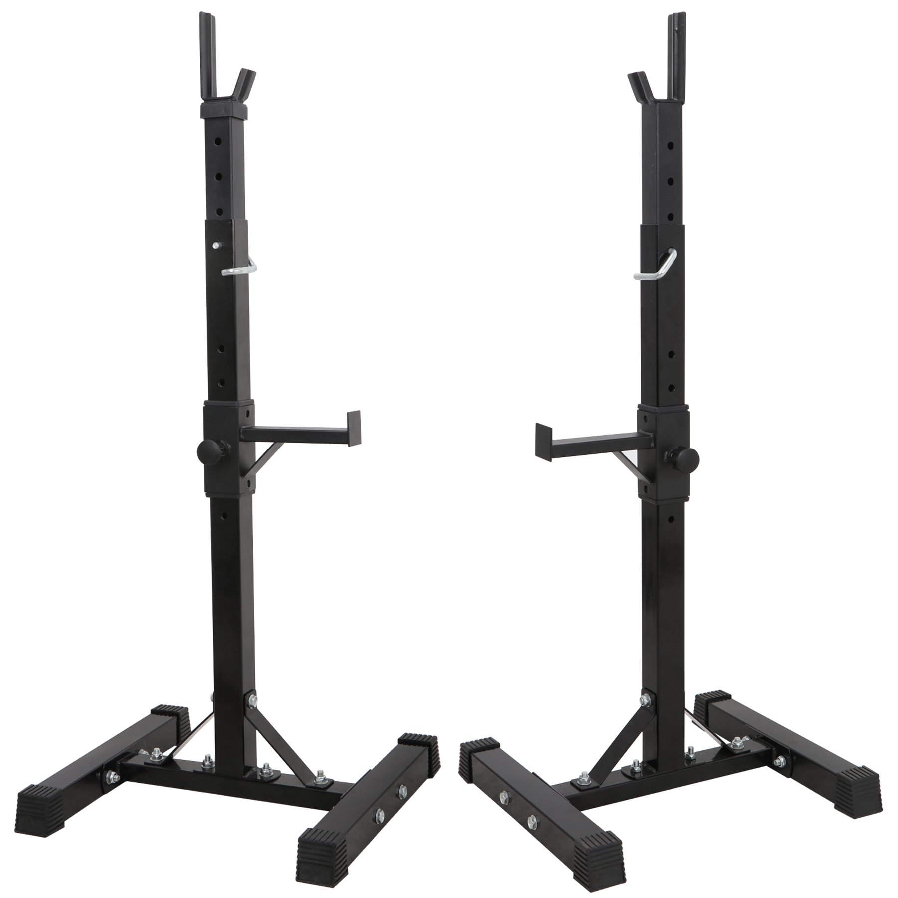 F2C Max Load 550Lbs Pair of Adjustable 41''-66'' Rack Sturdy Steel Squat Barbell Free Bench Press Stands Gym/Home Gym Portable Dumbbell Racks Stands (one Pair/Two pcs) by F2C (Image #5)