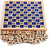 URToys Kid Early Educational Toys Baby Wooden Mathematics Sudoku Puzzle Digit Learning Education Child Wood Jigsaw Toy Number 1 to 100