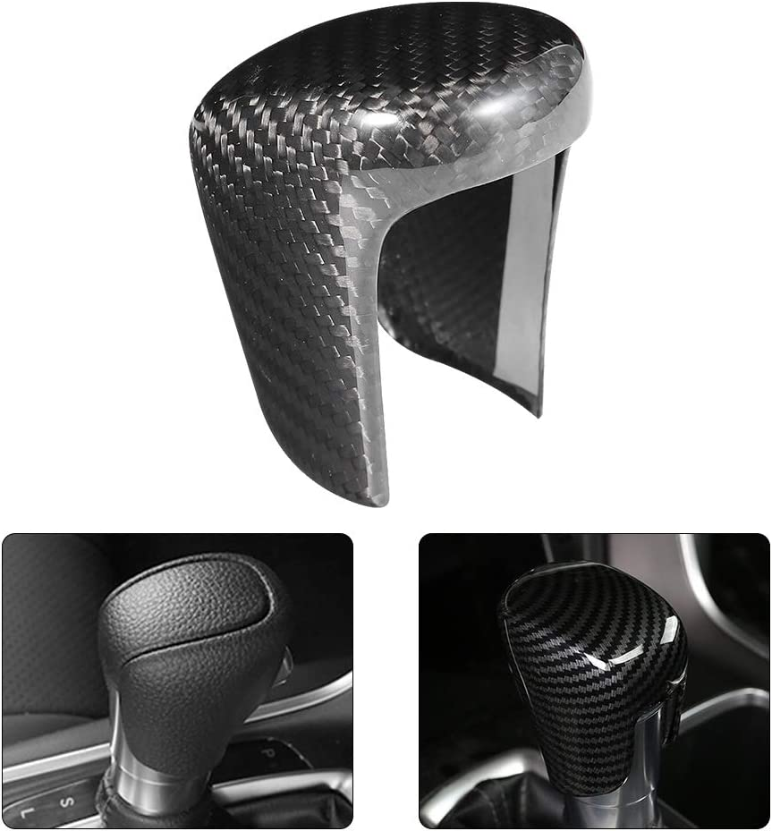 Duokon Carbon Fiber Gear Shift Knob Decoration Trim Cover Fit for Accord 10th 2018