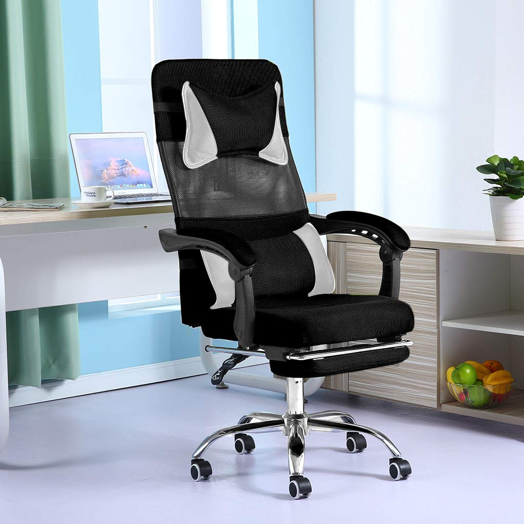 Ergonomic Office Chair, Adjustable High Back Computer Chair Desk Chair Recliner Chair,Liftable Mesh Chair with Footrest,Headrests and Lumbar Support,Swivel Chair Gaming Chair,19×19×44-48inch by lUKSY US-Direct