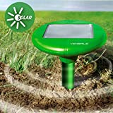 Vensmile Solar Powered Mole Repeller Repel Mole, Voles, Gopher, Mice and Rats