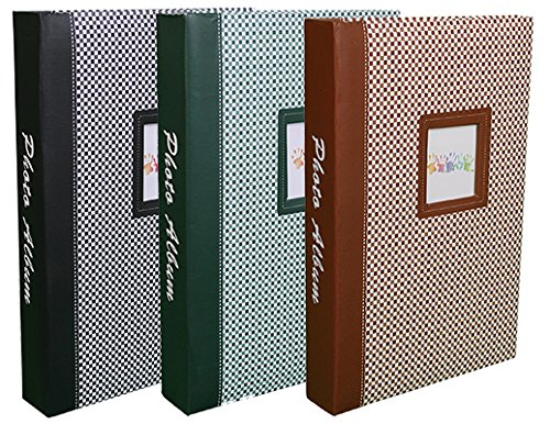 Lot de 3 albums photos Elements /à pochettes 10x15 pour 300 photos Noir//Vert//Brun