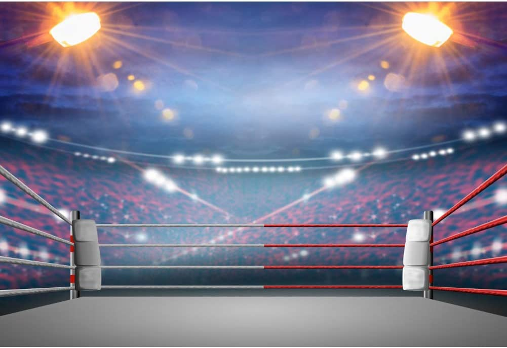 10x6.5ft Background Boxing King Photography Backdrop Studio Photo Props King of The Ring Club LYFU124