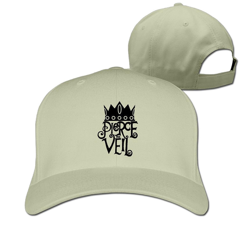GXGML Crown Pierce Veil Unisex Fashion Adjustable Pure 100% Cotton Peaked Cap Sports Washed Baseball Hunting Cap Cool Hat Ash