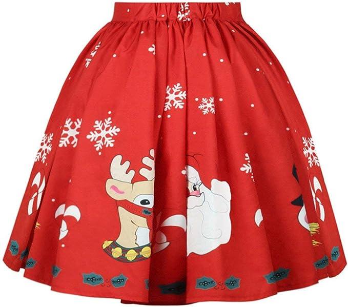 Falda De Mujer S Christmas Jyjmwomen Mini Vestido Falda Moda ...