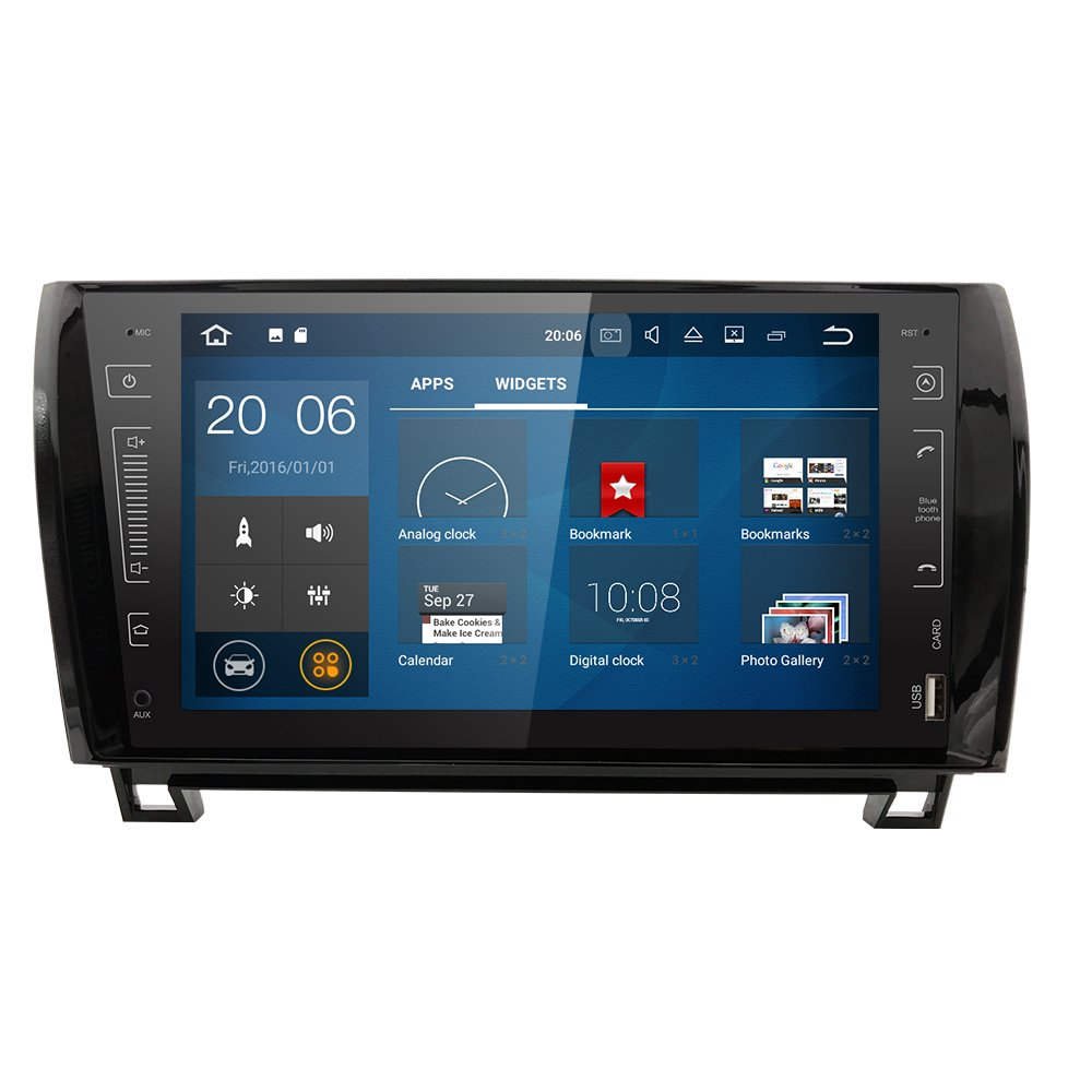 QUAD CORE 2GB RAM Android 7.1.1 Double Din 9'' Touch Screen In Dash GPS Navigation Car MultiMedia Player Stereo Radio for Toyota Tundra Sequoia