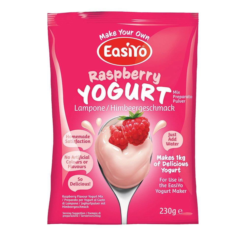EasiYo Sweet Flavoured Yoghurt Base - Raspberry 230g (For use with EasiYo Yoghurt Makers)