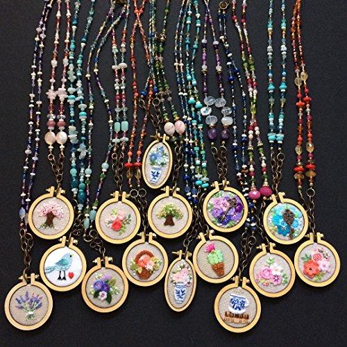 sweethome A set of 10, miniature cross stitch kits, mini fra