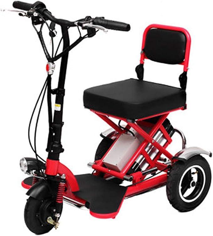 Hebbp1 Triciclo Eléctrico De Tres Ruedas Plegable, Portátil para Ancianos, Bicicleta Eléctrica, Batería De Litio De 48 V (Puede Soportar 150 Kg): Amazon.es: Deportes y aire libre
