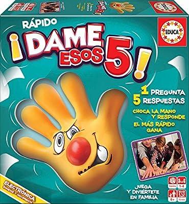 Educa- Rápido-Dame Esos 5 Juego de Mesa Familiar, a Partir de 12 años (17914): Amazon.es: Juguetes y juegos