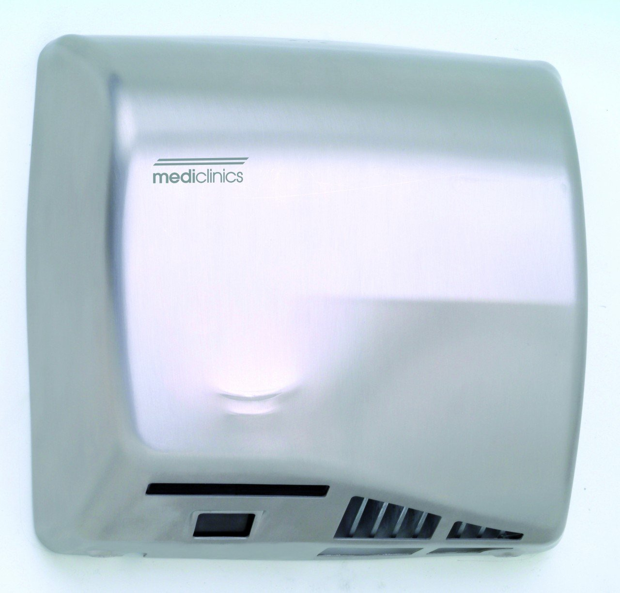 Saniflow M06ACS Speedflow Automatic Hand Dryer, Stainless Steel One-piece Cover Satin Finish, Universal Voltage, Maximum Robustness and Vandal-proof, Suitable for Very High Traffic Facilities