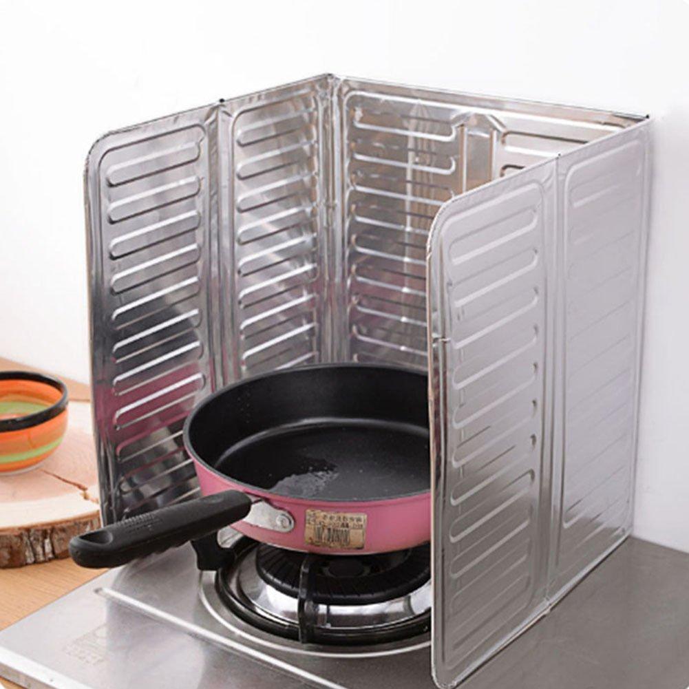langti Direct Kitchen Stove Foil Plate Prevent Oil Splash Cooking Baffle