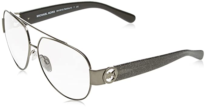 ce0f8dfe43 Amazon.com  Michael Kors 107111 Gunmetal Tabitha II Sunglasses Lens ...