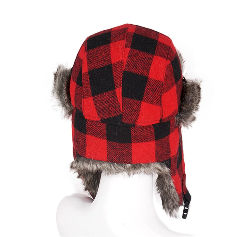 d0a885ad776e9b Amazon.com: HOMFUL Unisex Trapper Trooper Hat Hunting Hat for Men and Women  Ushanka Ear Flap Chin Strap - Updated New Model: Clothing