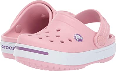 310fb4adeb Crocs Kids Baby Girl's Crocband II (Toddler/Little Kid) Petal Pink/Dahlia