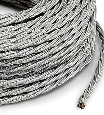 Cable eléctrico entelado estilo vintage, revestido en tela ...