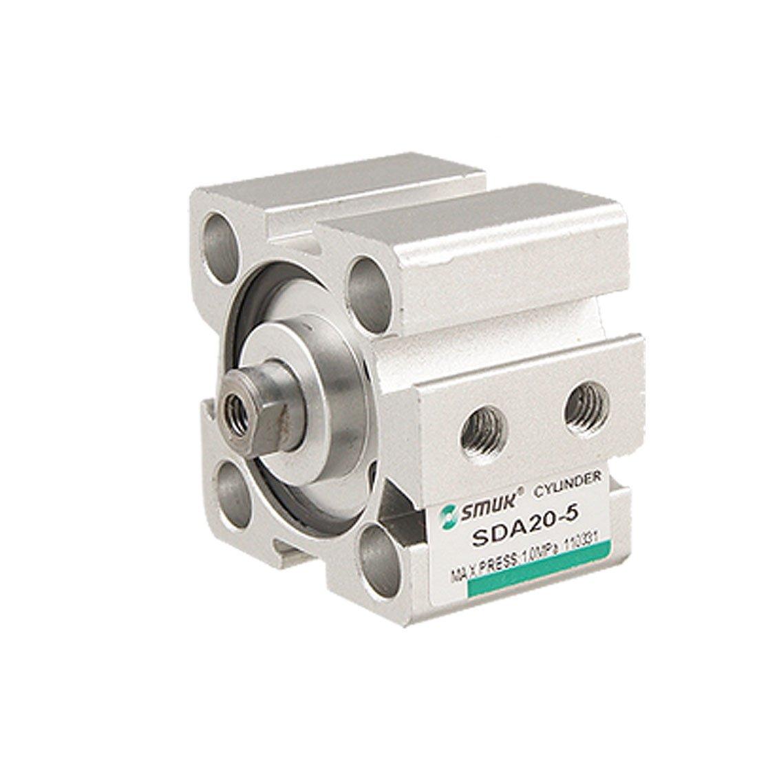 Sourcingmap, a11070800ux0156, 20 mm portavano corsa di 10 mm a doppia azione aria sottile cilindro