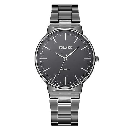 SUPERON Relojes Hombre Watch Men Crystal Stainless Steel Analog Quartz Business Wrist Watches Bracelet Man Military
