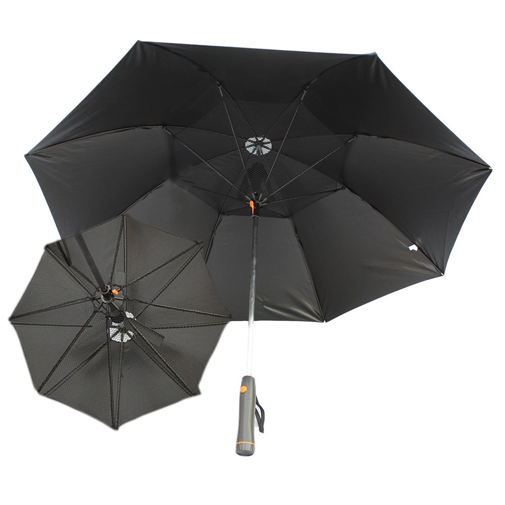 Straight Shank Umbrella With Fan And Water Rain