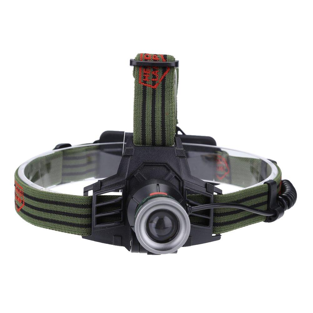 para Acampar Aire Libre Senderismo luz de Trabajo Impermeable Recargable Linterna de luz de Casco Resistente al Agua de 6000 l/úmenes m/ás Brillante JYL Linterna LED Faros