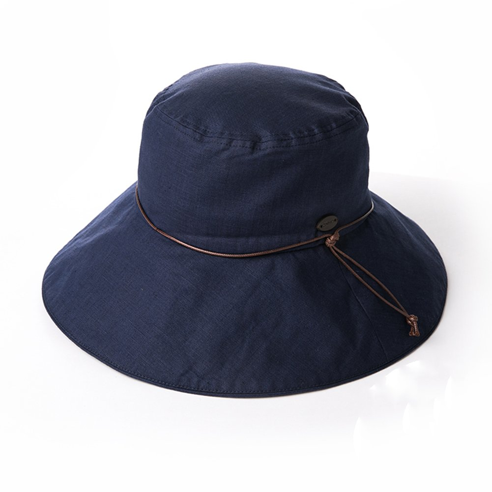 d582867aef74f HAIPENG Cap Wide Brimmed Hat Summer Flap Cap Visor Sun Protection Anti-UV  Korean Version Female Foldable Outdoor 4 Colors Optional Sun Hat (Color    Navy ...