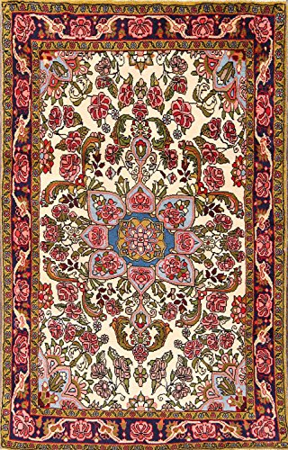 (New Traditional Bidjar Hand Knotted Classical Persian Oriental Area Rug 3x5 Wool (4' 10