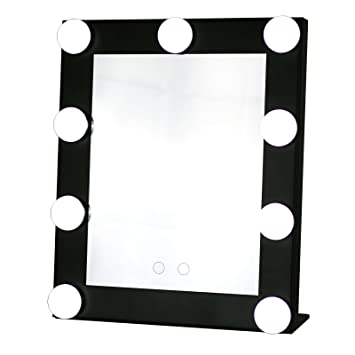 small vanity mirror with lights. Yvettevans Hollywood Makeup Vanity Mirror with Light Tabletops Lighted  Dimmer Stage Beauty Valentine s Amazon com
