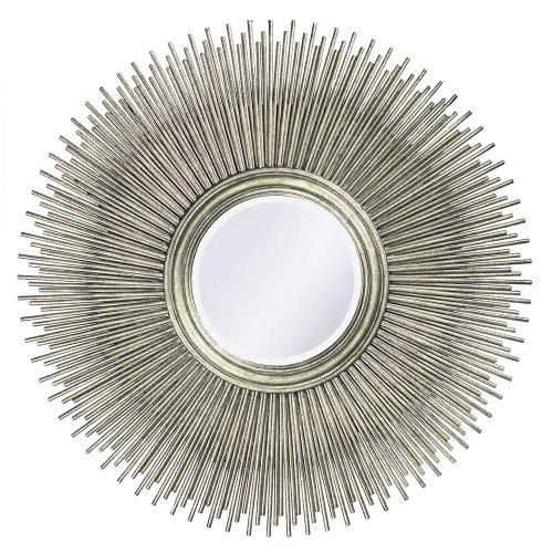 Howard Elliott 5138 Singapore Silver Leaf Mirror (Sunburst Accent)