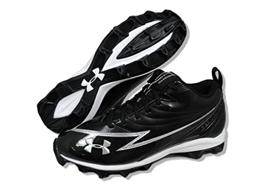 607eaa7c5 Image Unavailable. Image not available for. Color  Under Armour Men s  Football Cleats HAMMER III Black White Silver ...