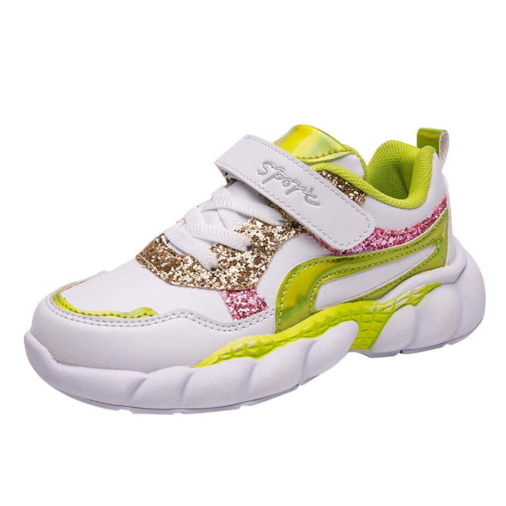 Alwayswin Kinder Jungen Mädchen Leichte Klettverschluss Sneaker Mode Lässig Atmungsaktiv Turnschuhe Kinderschuhe Neue Kontrastfarbe Freizeitschuhe Weicher Boden rutschfeste Sportschuhe