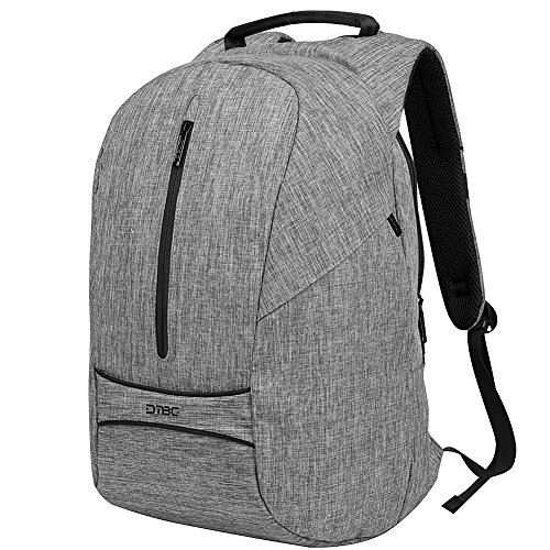Anti Theft Laptop Backpack 17.3 Inch,DTBG Anti-tear Roomy Lightweight Business Computer Backpack Travel Knapsack College Shoulder School Bag for 17 - 17.3 Inches Laptop Notebook Computer,Grey