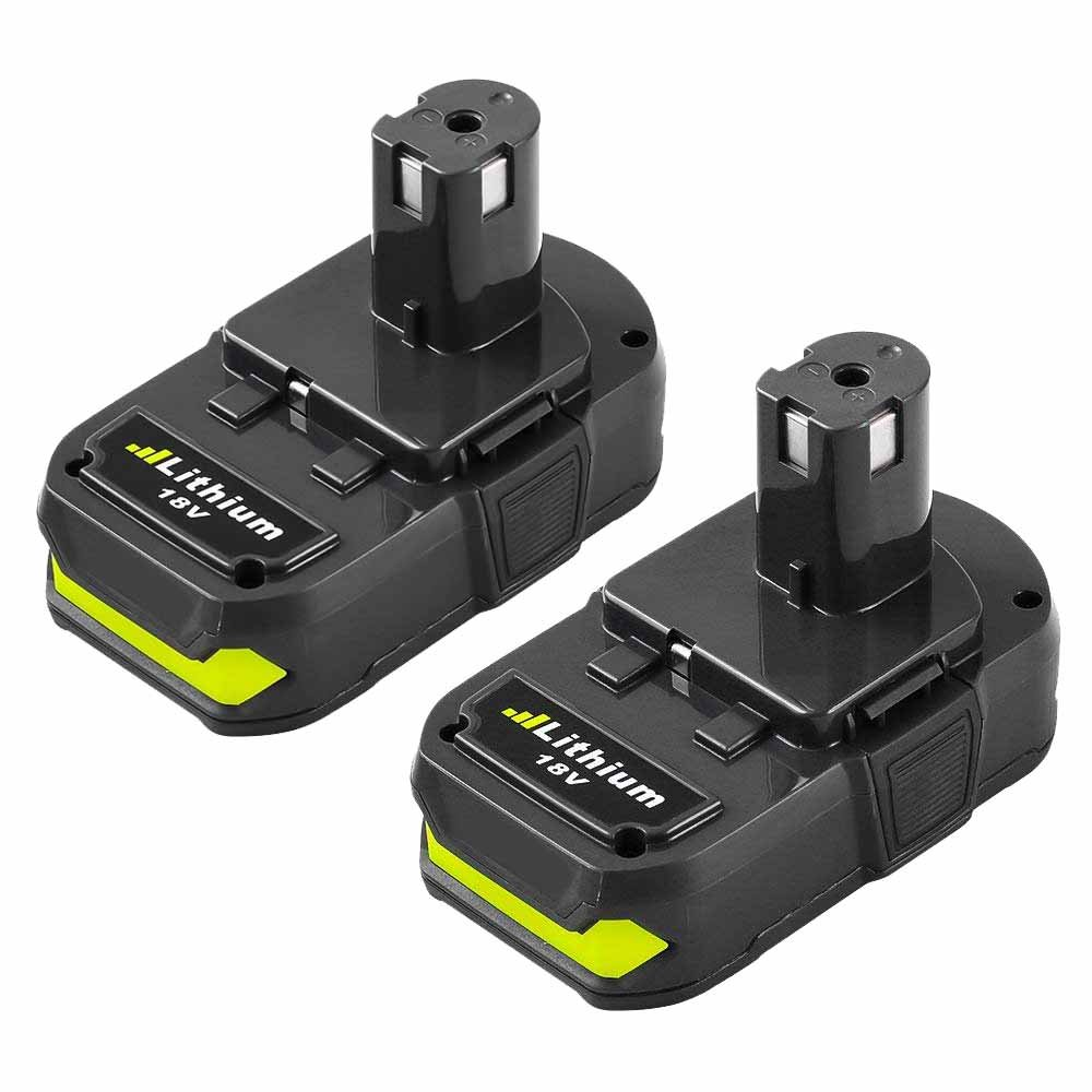 Battery for Ryobi 18v 2500mAh, Fhybat P102 Lithium Replacement 18 Volt ONE+ P108 P100 P104 P105 P110 Cordless Power Tools Batteries (2Packs)