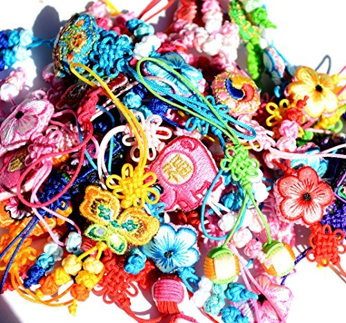 Maedup - 10 X Cell Phone Charms Straps Mix - Small Gift for Friends - Butterfly, Little Pigs, Flowers... (Phone Pig Charms)