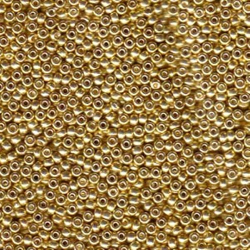 Galvanized Gold Miyuki Japanese round rocailles glass seed beads 11/0 Approximately 24 gram 5 inch tube