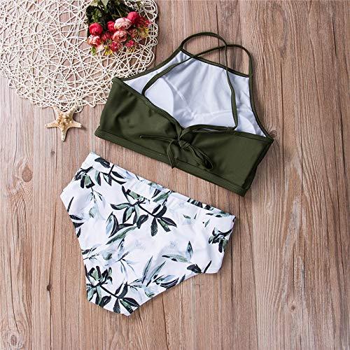 Costumi Ttkmbn Bagno Costume Donna Bikini Strisce Da Set Up L A Push Verdi Alta Fasciatura Vita CxCpqwr6S
