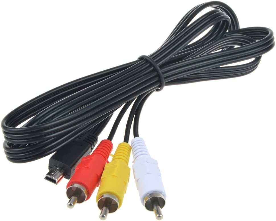 Flashmen 4FT AV Monitor Cable for Canon T2i 550D Magic Lantern USB Mini to RCA TV AUX Video