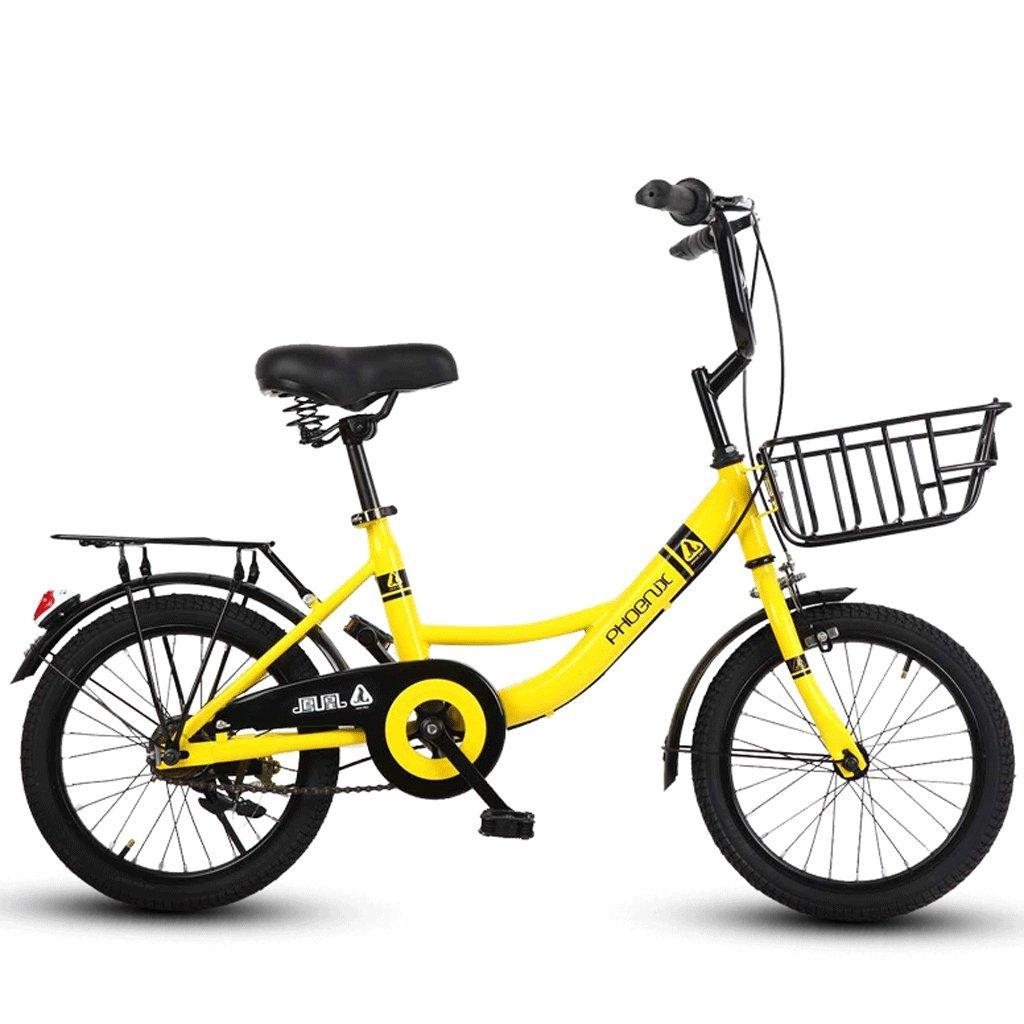 子供の自転車16インチの女の子の自転車6-12男性と女性の子供の赤ちゃんキャリッジスクール子供の車 (色 : イエロー いえろ゜) B07D6MXQMF イエロー いえろ゜ イエロー いえろ゜