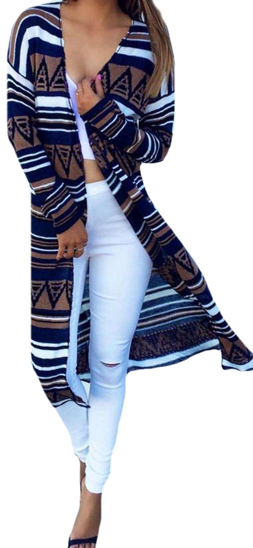 Vska Women's Fashion Printing Vintage Casual Slim Fit Cardigan