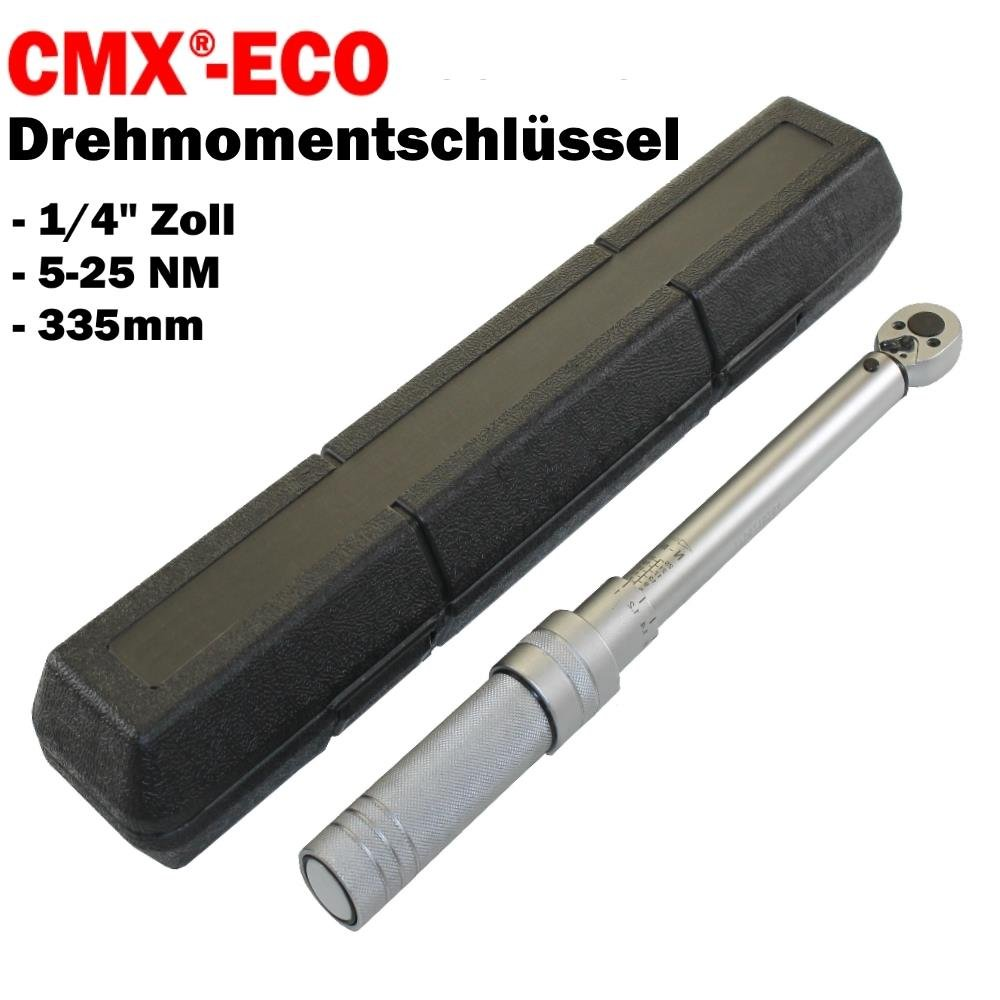 Citomerx/® Eco Drehmomentschl/üssel 1//4 Zoll 5-25NM 335mm